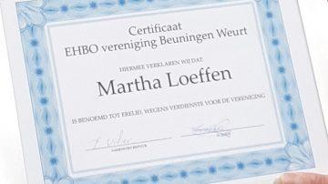 Martha benoemd tot erelid!